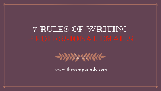 7 rules of writing professional emails